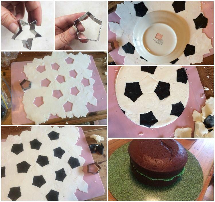 Diy Fondant Soccer Ball Cake Topper Soccer Ball Cake Manchester United Birthday Cake Ball Birthday