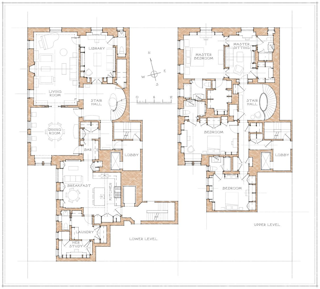 Park Avenue Apartment Architectural Floor Plans Mansion Floor Plan Mediterranean House Plans
