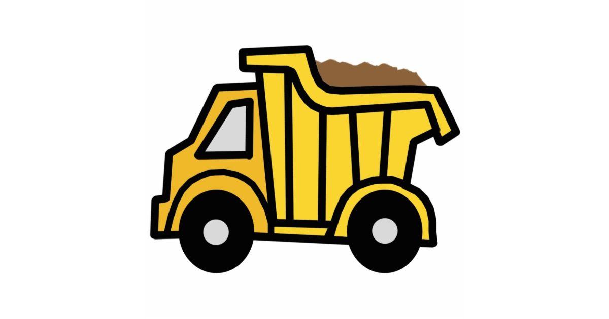 Cartoon Clip Art With A Construction Dump Truck Cutout Zazzle
