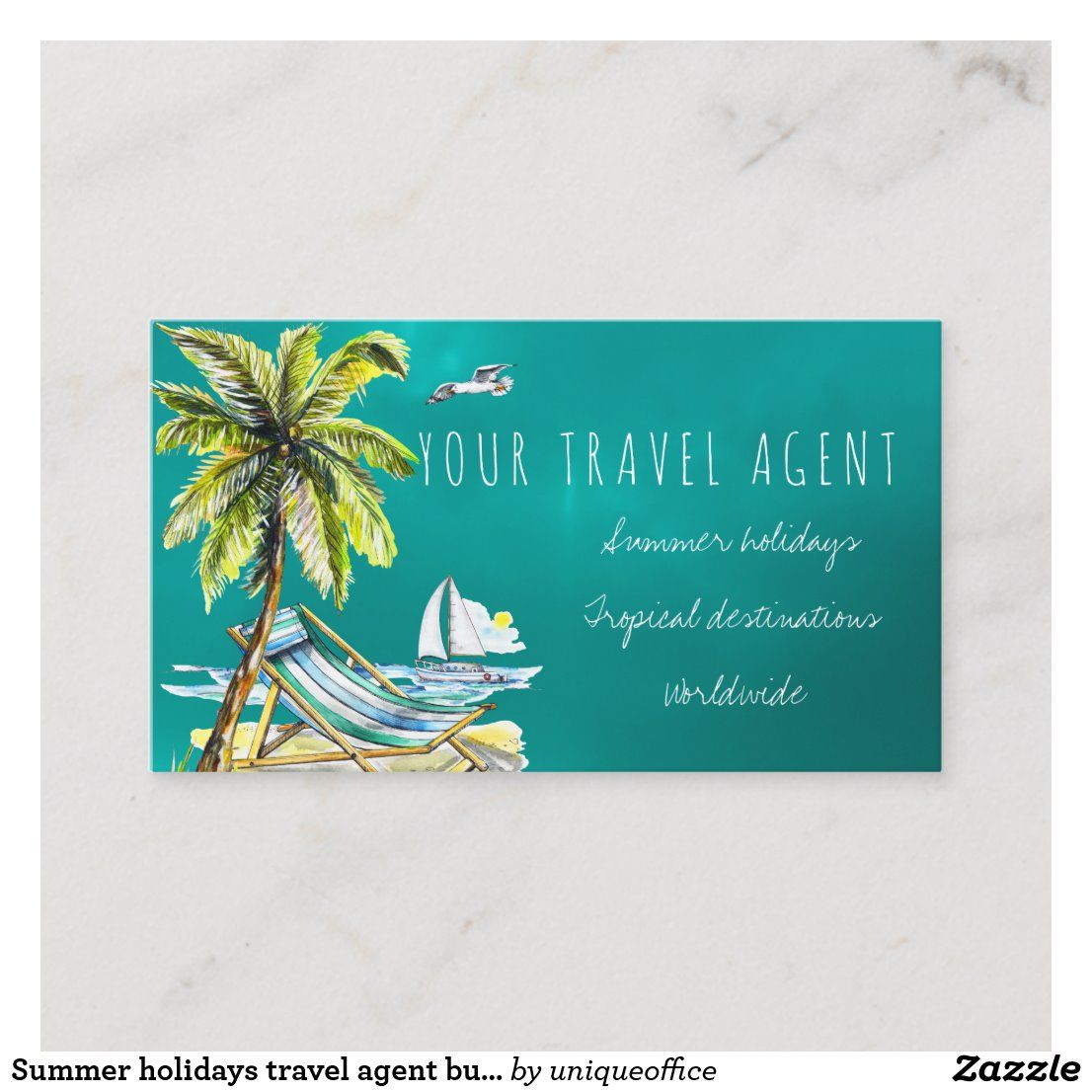 Summer Holidays Travel Agent Business Cards In 2020 With Images
