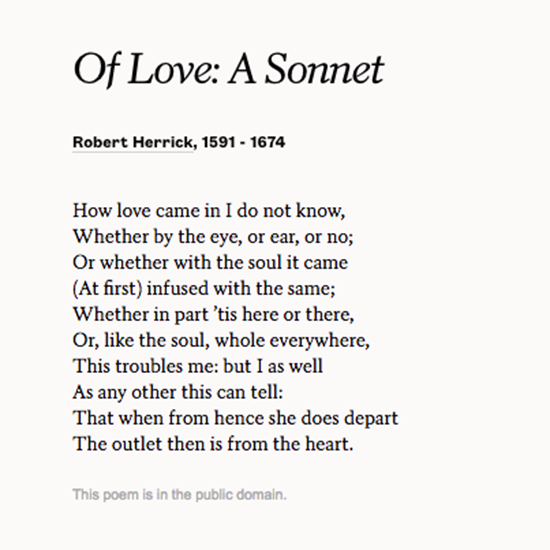 Read Of Love A Sonnet By Robert Herrick To Celebrate Your Wife Wedding Poemswedding