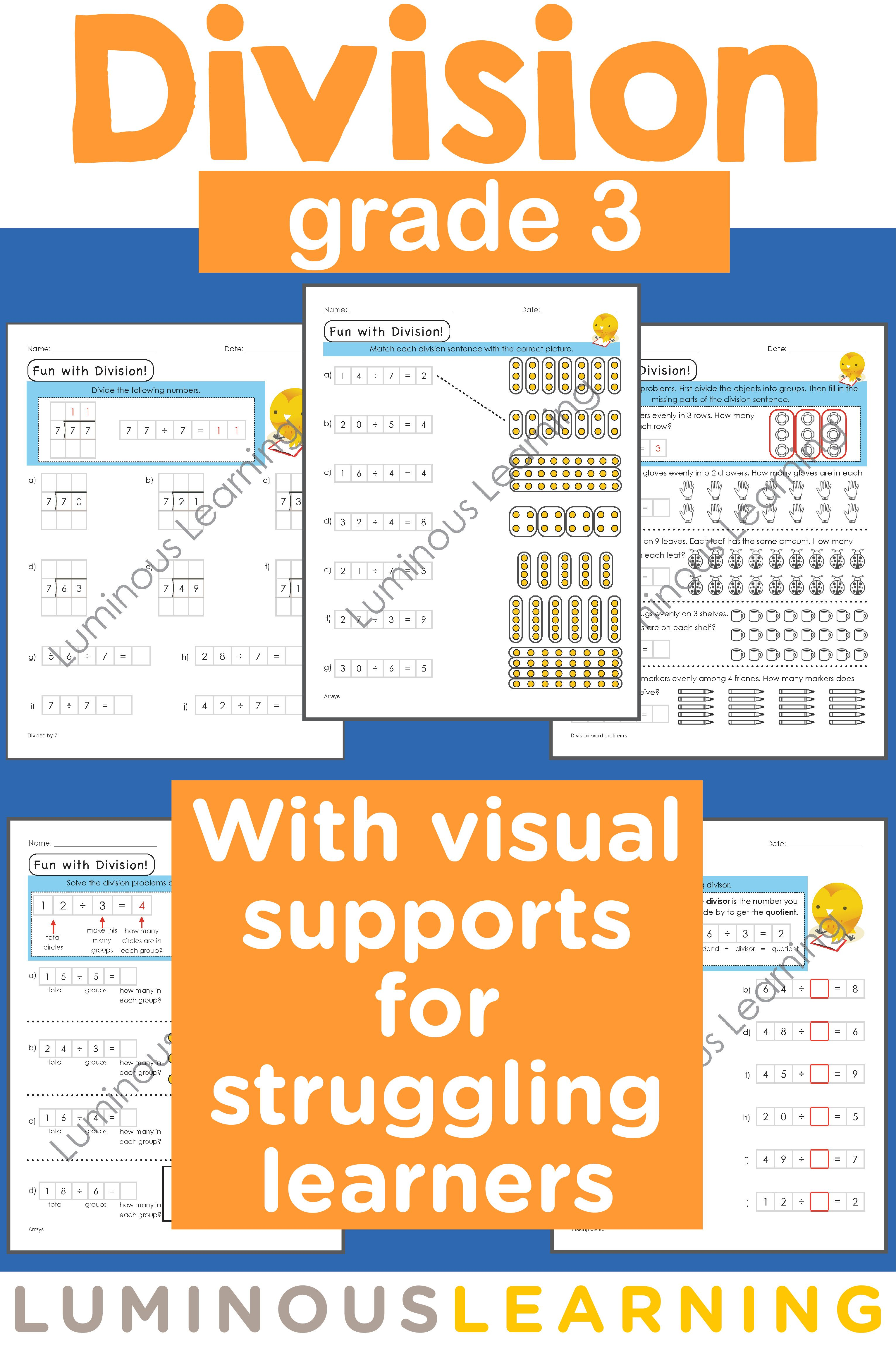 Visual Division Worksheets
