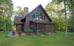 Cottage house plan with garage with log cabin metal roof and contemporary small
