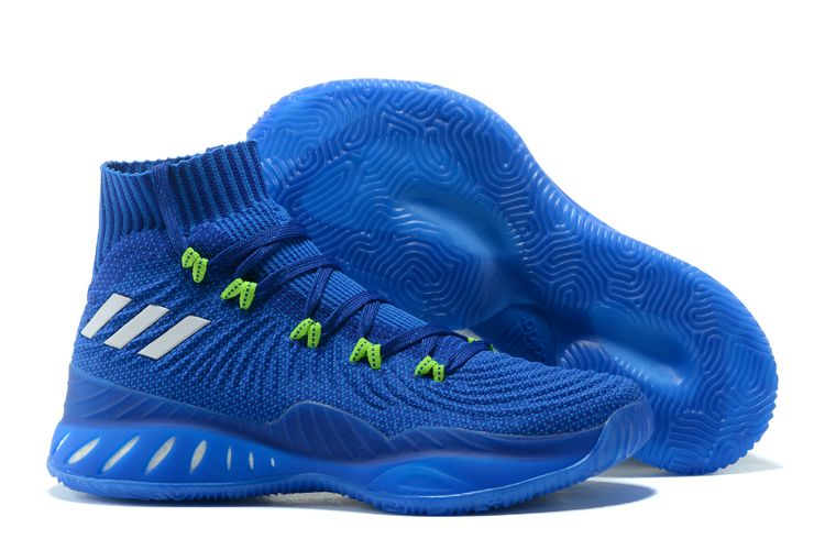 "new style ce95e 19248 New adidas Crazy Explosive 2017 Primeknit ""Andrew Wiggins"" Navy Blue Green"