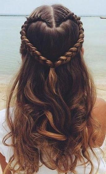17 adorable heart hairstyles - cute hairstyles for kids you'll love! - With Ha ... - #adorable #hairstyles #heart - #new