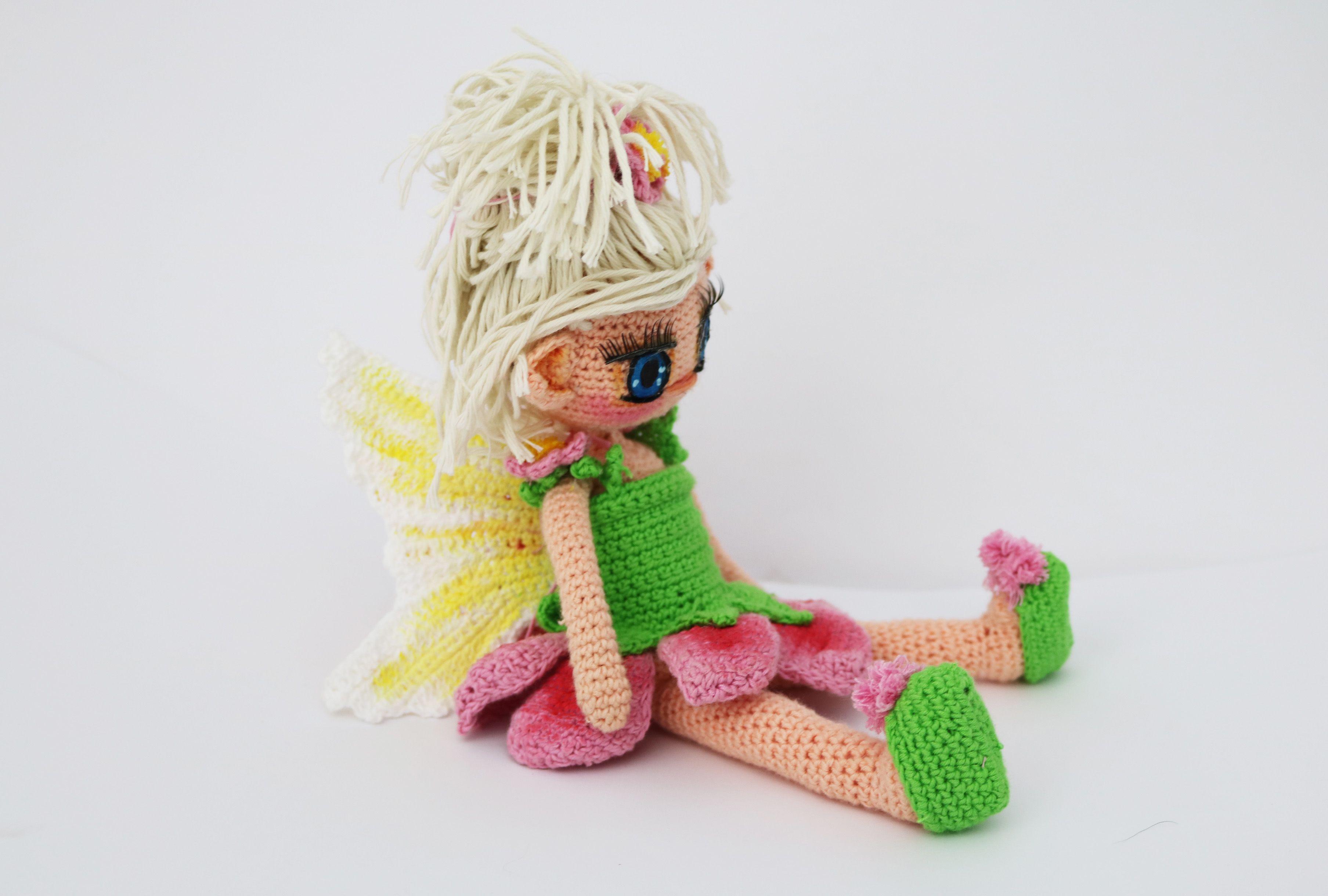 Muñeca hada amigurumi, patron gratis   las mas bonitas muñecas ...