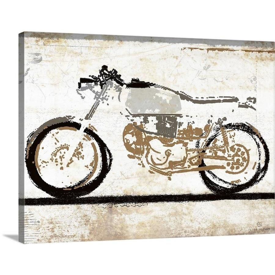 Greatbigcanvas Vintage Motorcycle 1 By Peter H 2184127 24 24x18 In