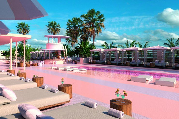 Paradiso Ibiza Art Hotel Pink Pool Tropical Garden