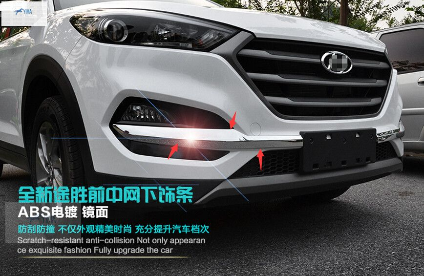 High Quality For Hyundai Tucson 2016 2017 ABS Front Fog Side