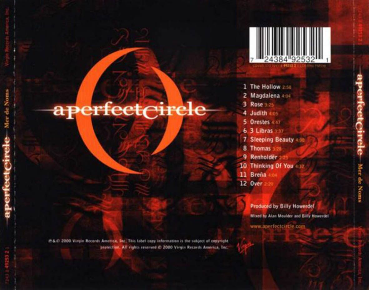 A Perfect Circle Mer De Noms Memorable Albums A