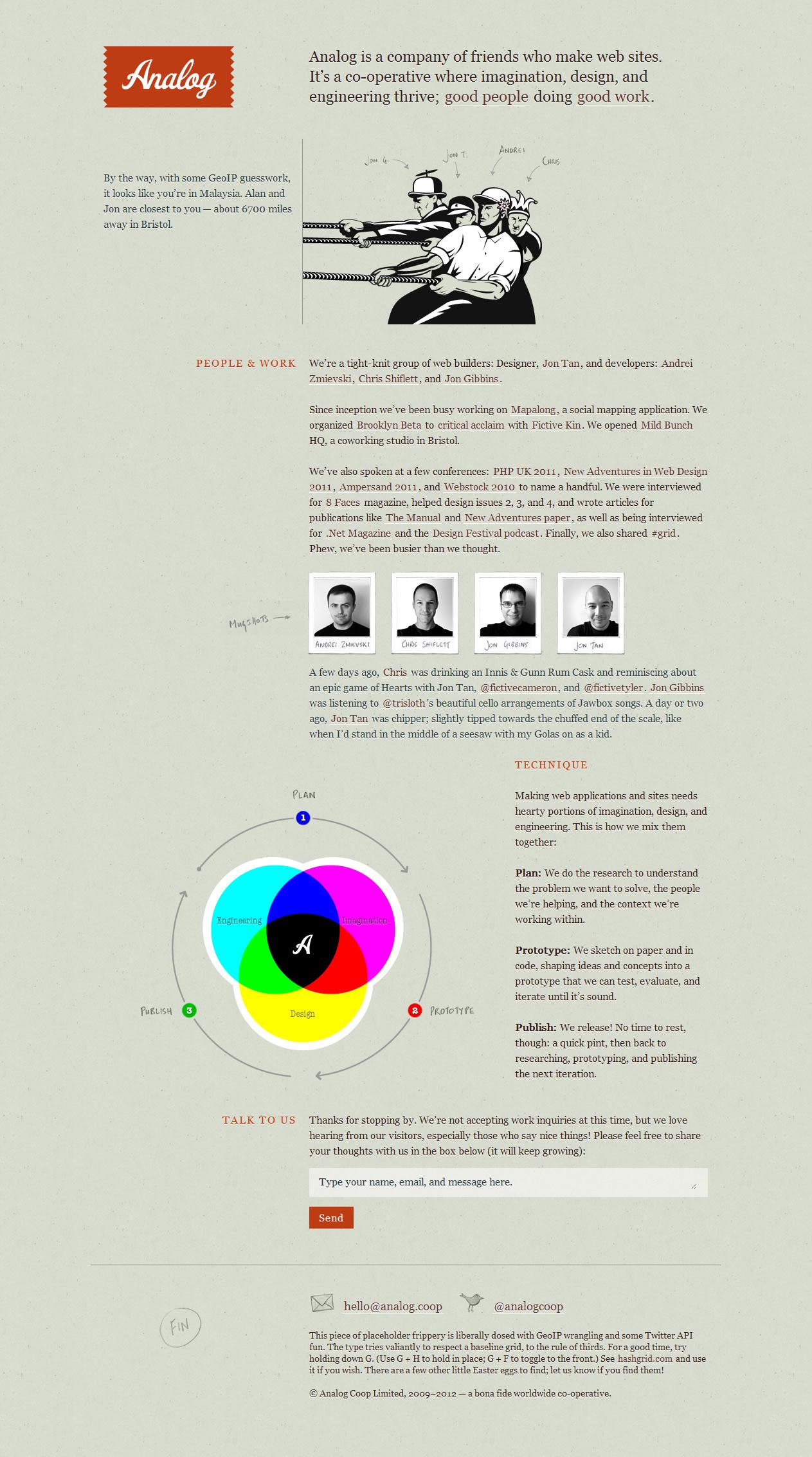 Analog Simple Web Design Learning Design Web Design