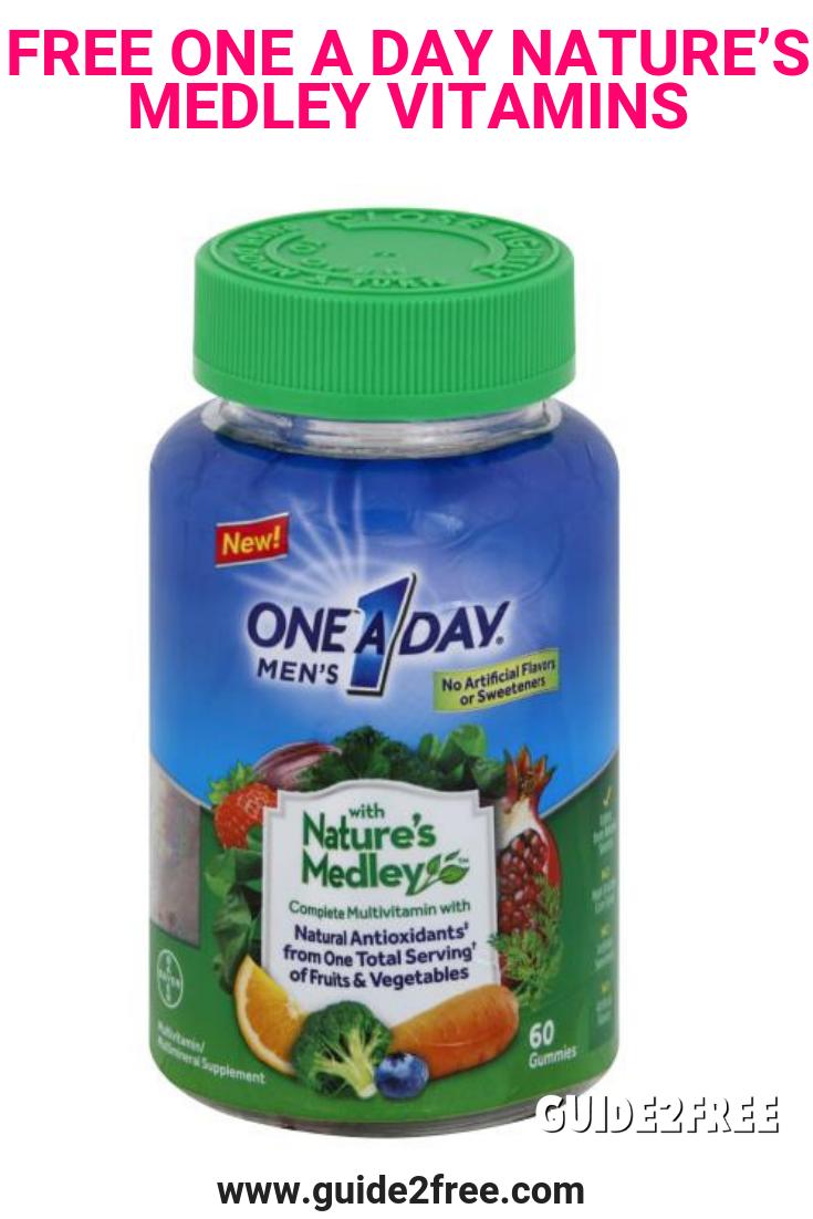 FREE One A Day Nature's Medley Vitamins At CVS Vitamins