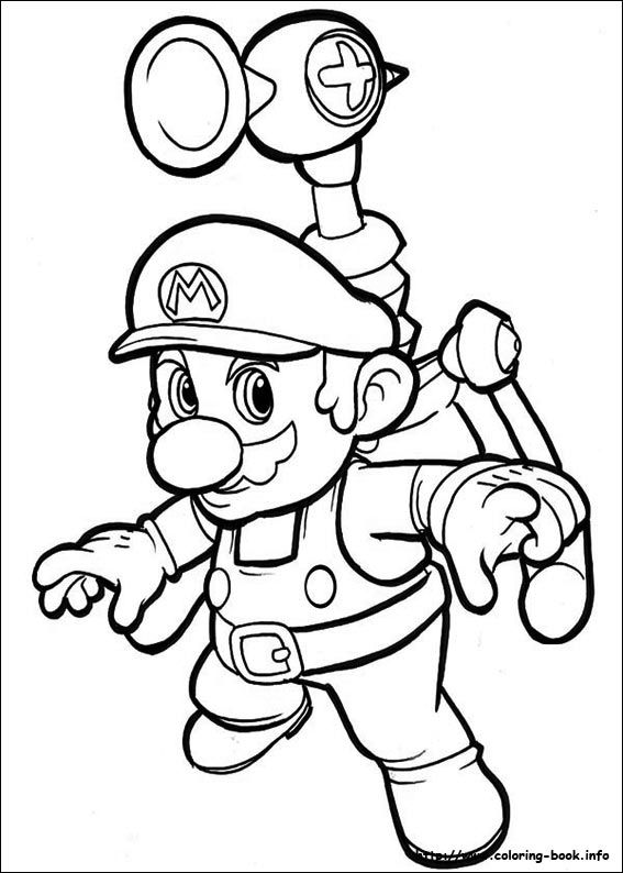 Super Mario Bros Coloring Picture With Images
