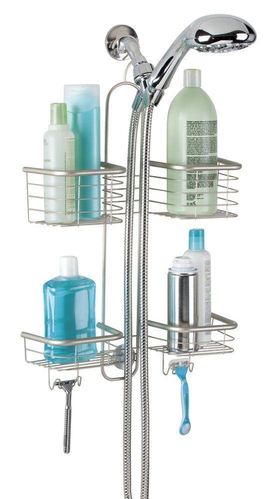 Mdesign Bathroom Shower Caddy For Handheld Shower Head Large