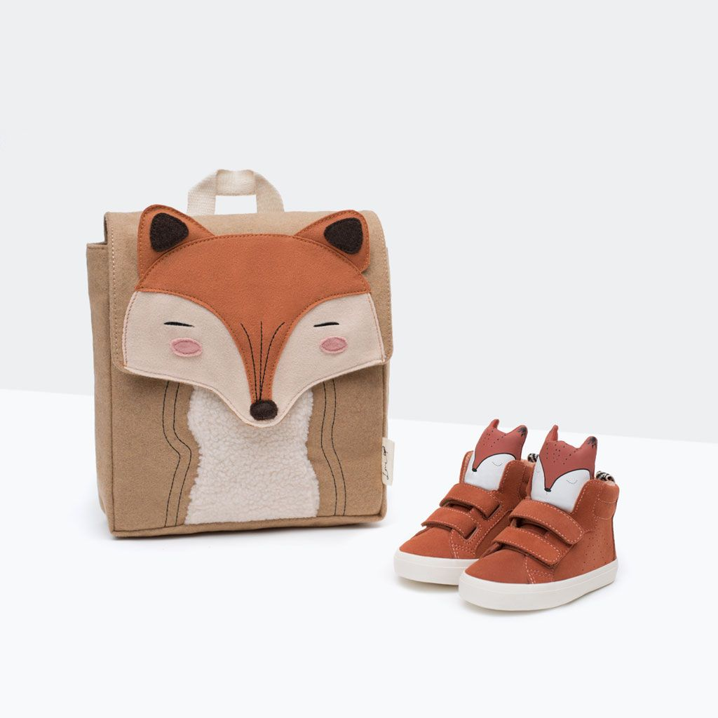 baskets en cuir d tail de renard chaussures b b fille 3. Black Bedroom Furniture Sets. Home Design Ideas