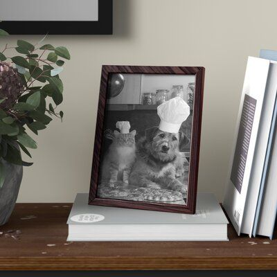 Winston Porter Agustine Picture Frame Picture Size 10 X 13 Color Cherry Blue Picture Frames Mirrored Picture Frames Family Picture Collages