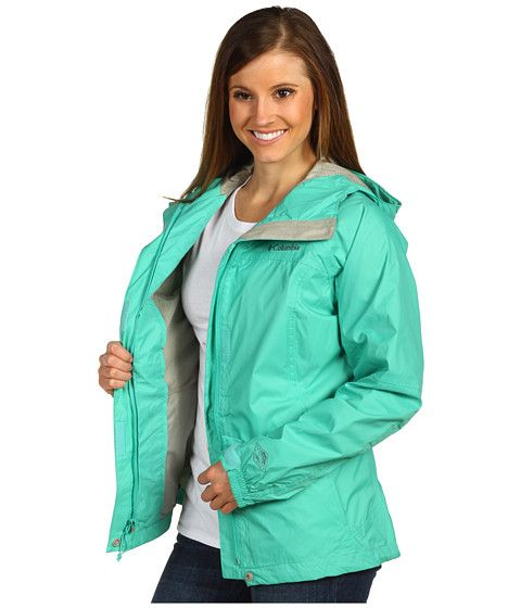 Columbia Jacket Womens Medium Size PVC Rain Coat Purple Blue ...