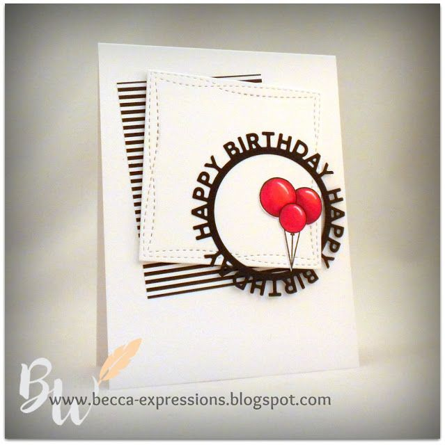 Birthday Card with MFT