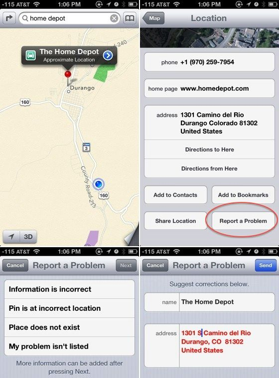 How To Report A Problem With Ios  Maps Data  Other
