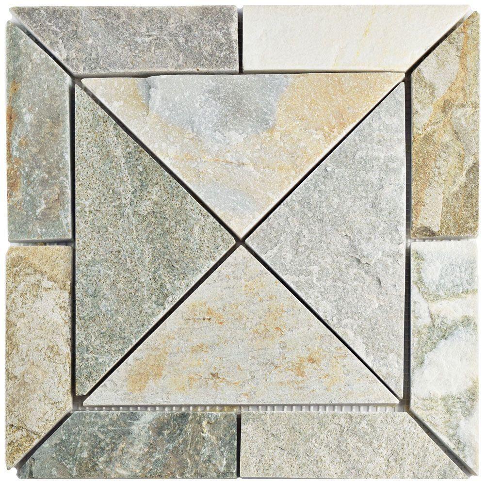 Merola tile crag vintage arizona quartzite in x in x mm