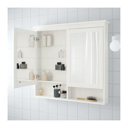 HEMNES Spiegelschrank 2 Türen - weiß, 103x16x98 cm - IKEA Small - badezimmer spiegelschrank ikea