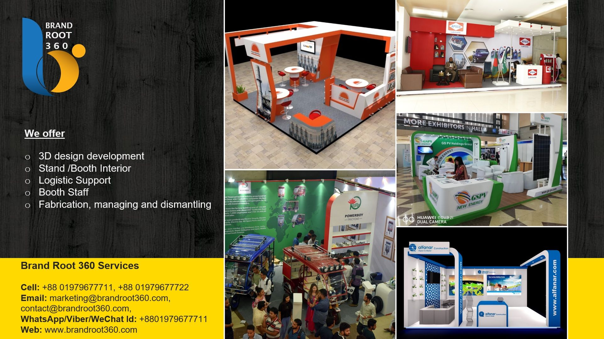 Contact with us for your exhibition stand interior works Brand Root