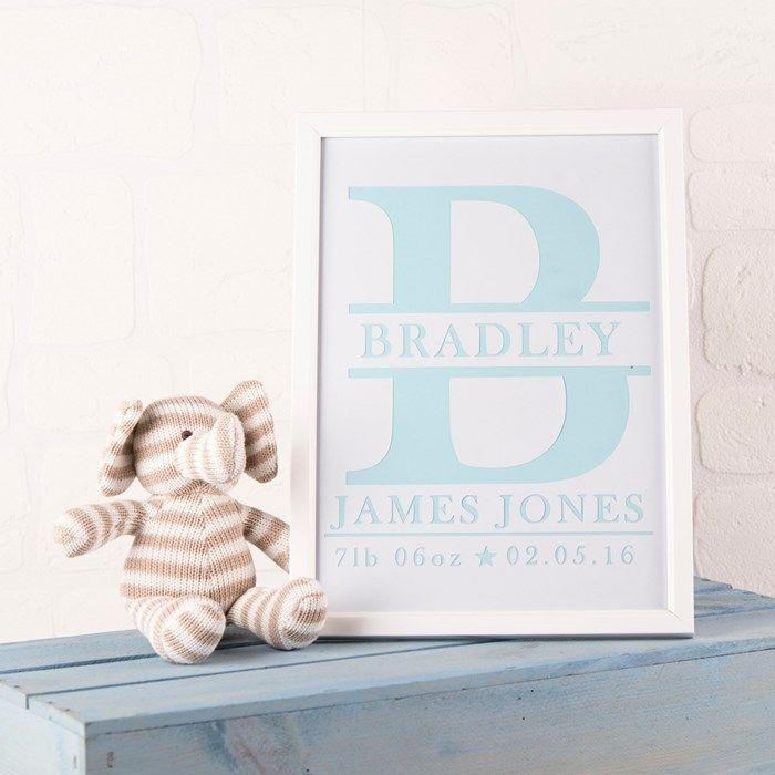 Personalised Papercut Letter Name Framed Print | GettingPersonal.co.uk
