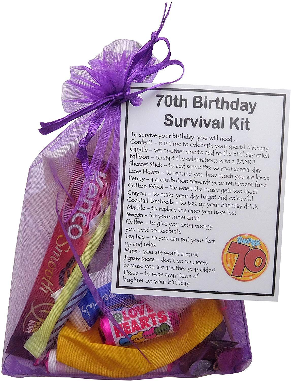 SMILE GIFTS UK 70th Birthday Survival Kit Gift Amazon.co