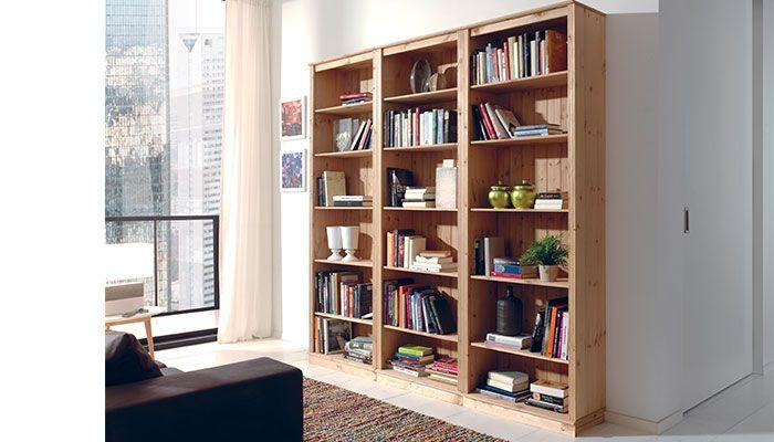 etagere bibliotheque en pin massif