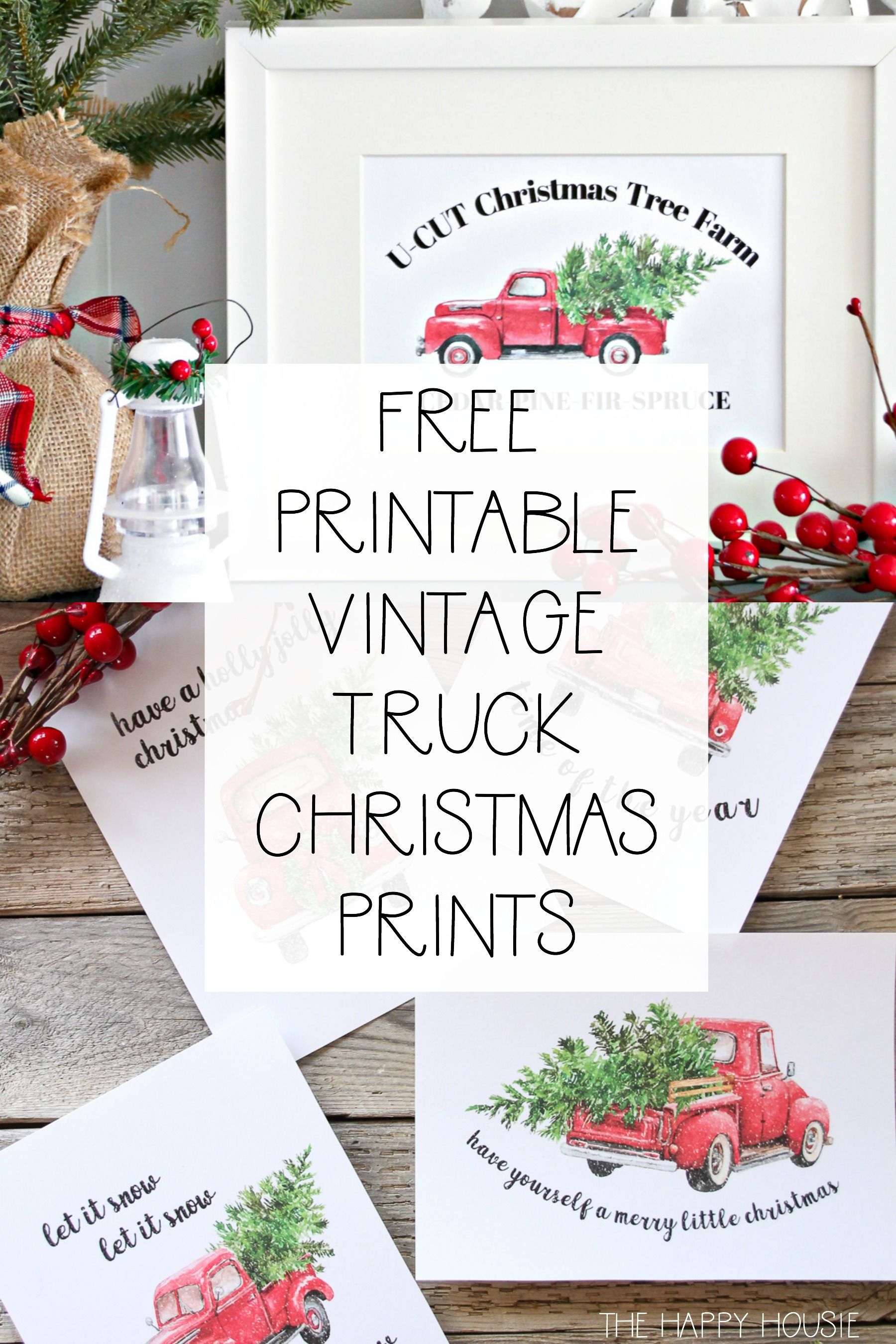5 Free Vintage Truck Christmas Printables The Happy