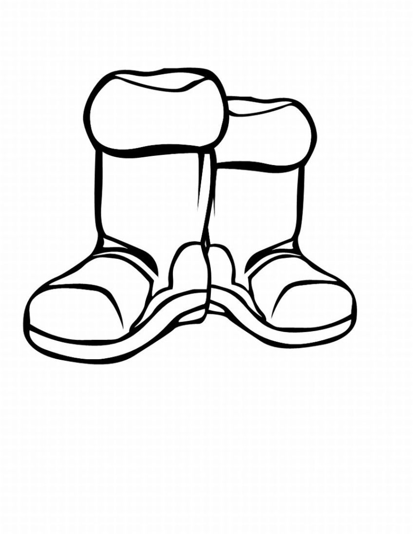Snow Boots For Winter Coloring Pages