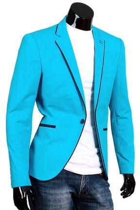 Купить Приталенный мужской пиджак цвета морской волны недорого в Москве 9410bc43b60