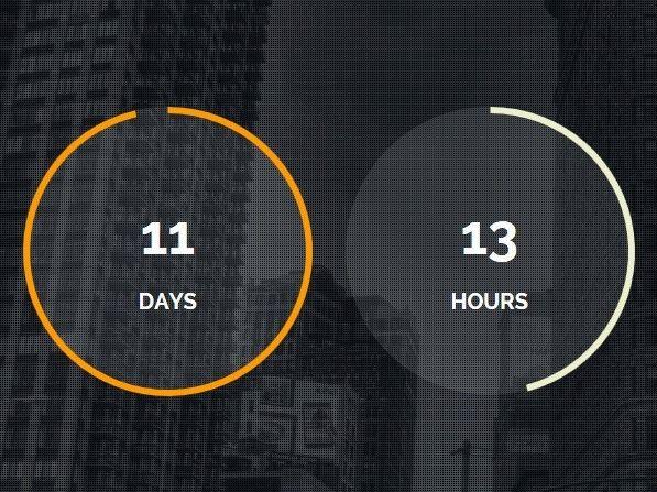 Modern Circular jQuery Countdown Timer Plugin - Final