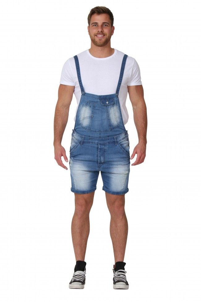 b55f1faaad41 Men's Denim Dungaree Shorts | Mens Fashion Dungarees | Men | Stuff ...