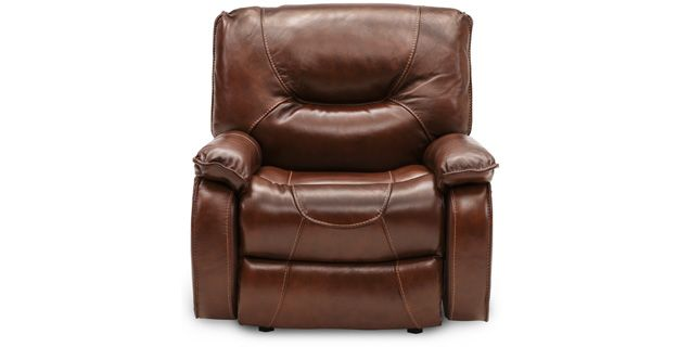 White Leather Sofa Sofa Mart Elias Leather Recliner in Cognac For the Hubs of course