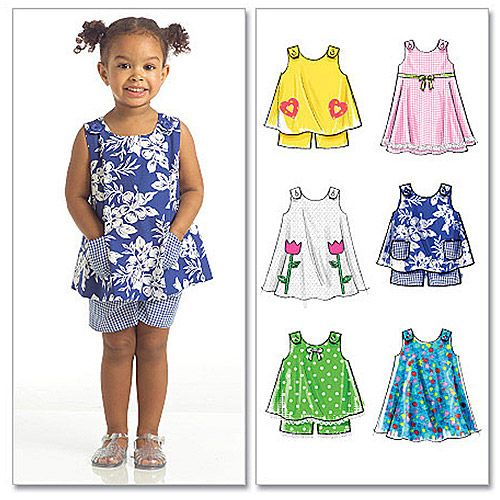 McCall\'s Pattern Toddlers\' Tops, Dresses and Shorts, All Sizes in 1 ...