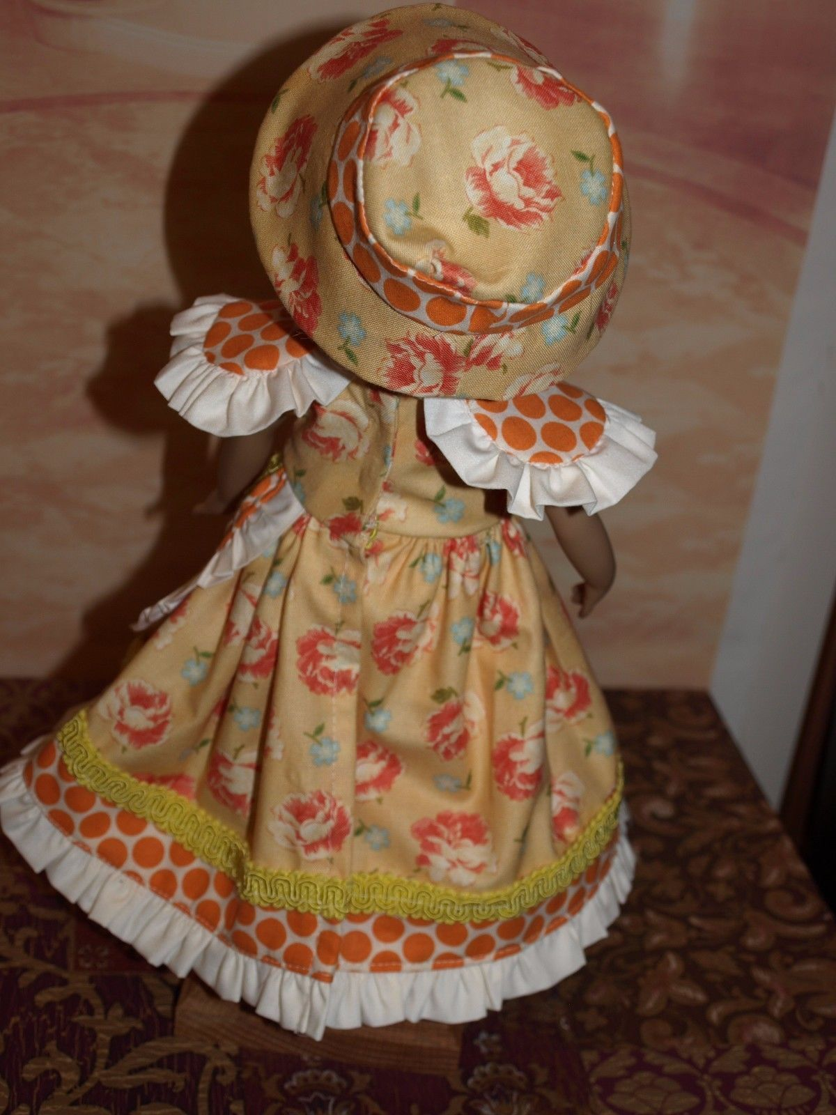 She is not a ball jointed doll. I used a modification of a FarmCookies Pattern. I added the hat to complete the look. Fabric is by Joanna Figueroa, Fig Tree & Co. for Moda. Trims are from my 'trims stash'. | eBay!