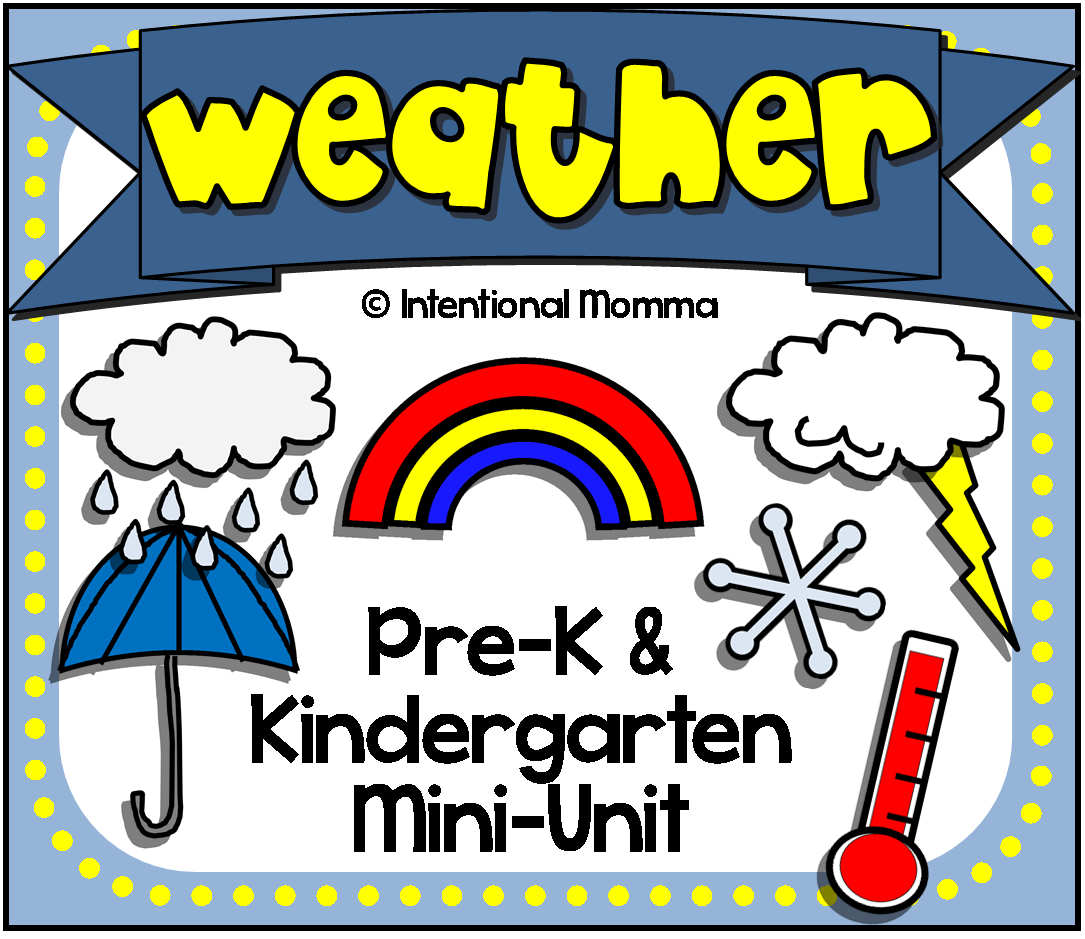 Weather Mini Unit For Spring Pre K And Kindergarten