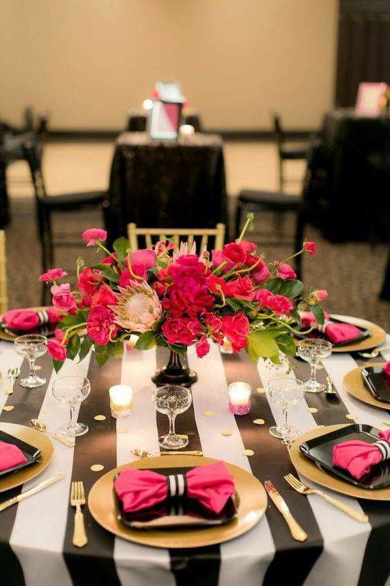 Low Pink Centerpiece Party Ideas Pinterest Tischdeko Hochzeit