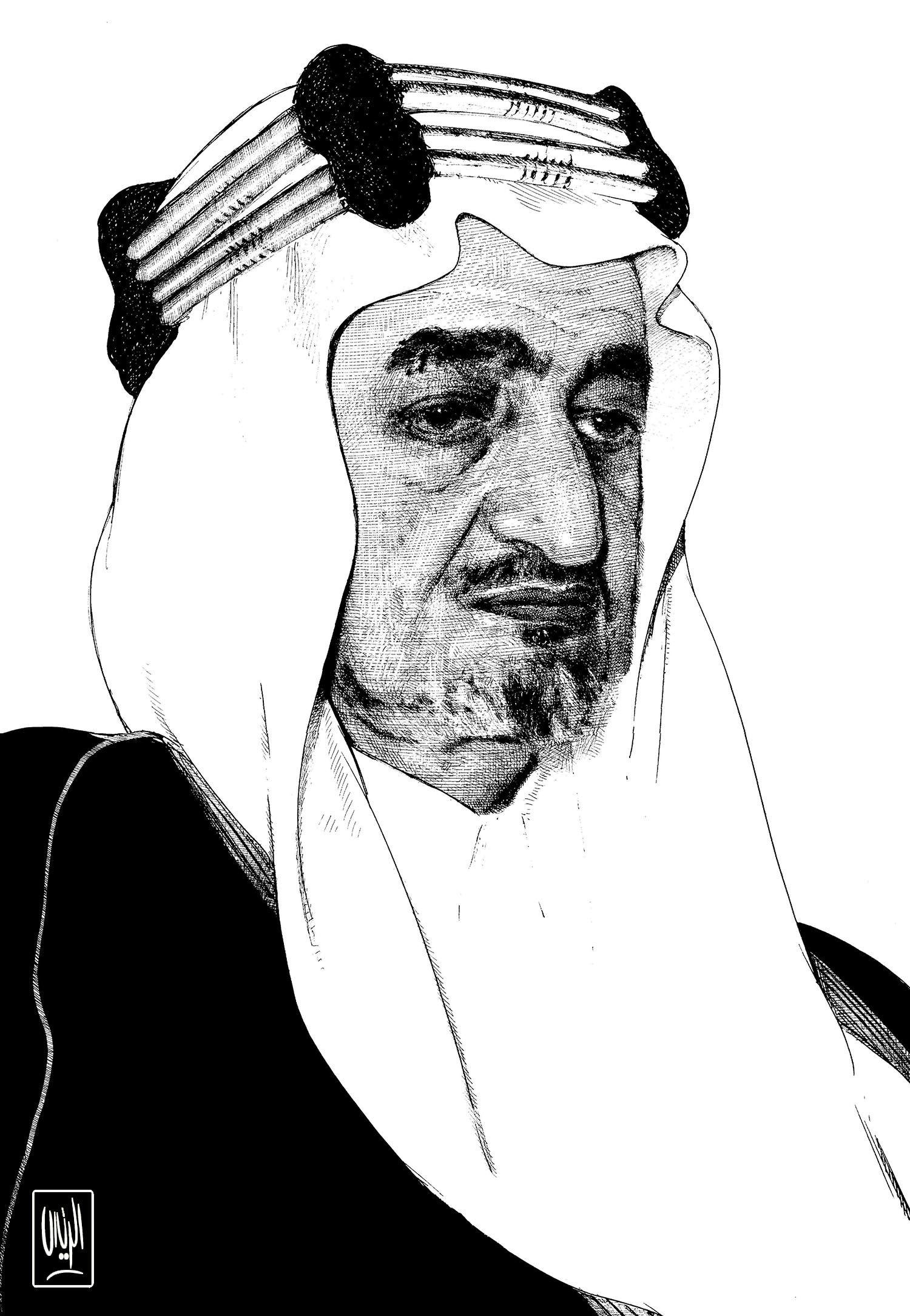 King Faisal King Faisal Oil Painting Ink