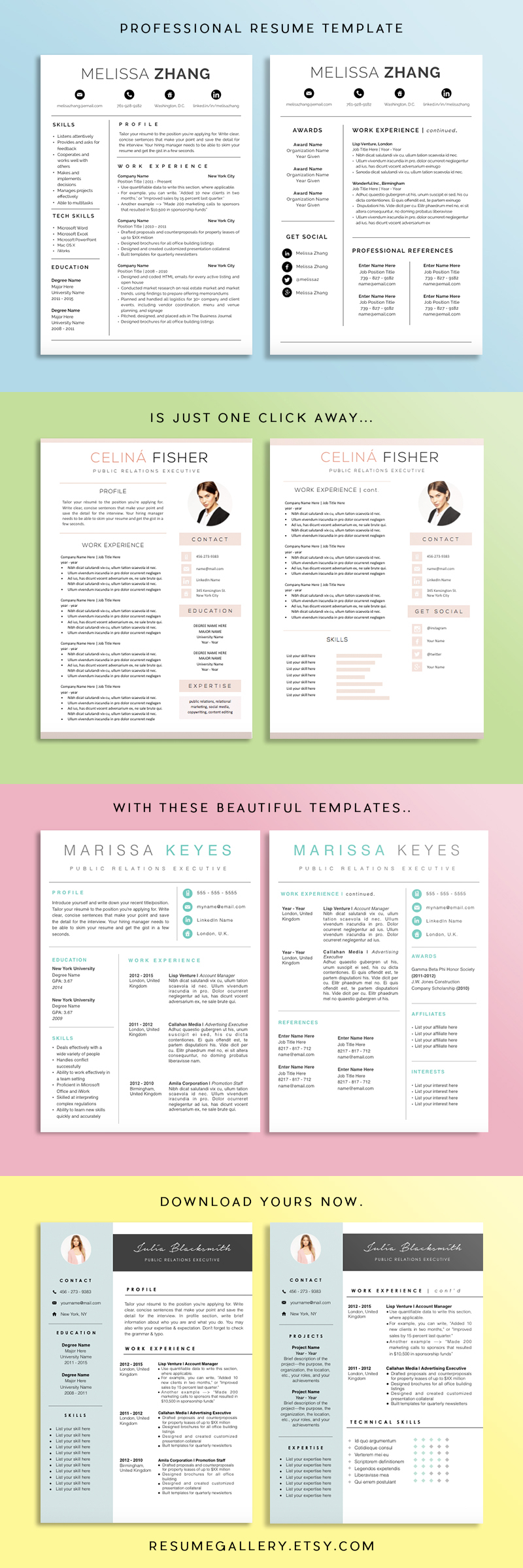 Click To See More Download Your Resume Template To Get A Job This