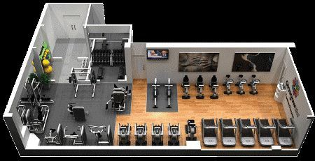 small fitness center layout  google search  interior de