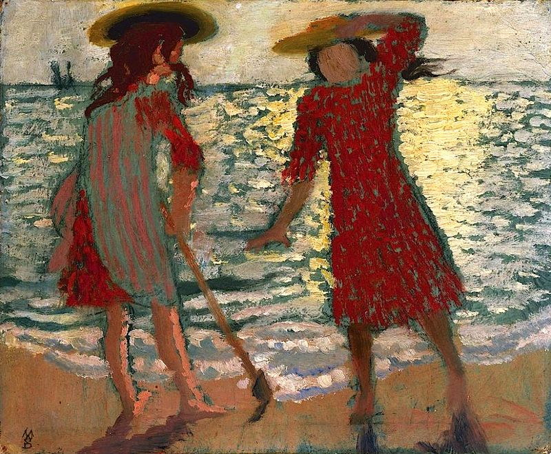Maurice Denis - On the Beach (also known as Two Girls Against the Light)