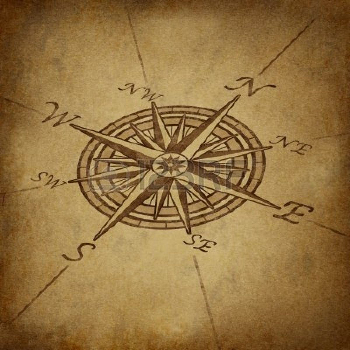 Grunge world map background with rose compass stock photo picture grunge world map background with rose compass gumiabroncs Gallery