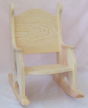 Childrenu0027s Unfinished Rocking Chair   Plain Backed   Hand Crafted Pine