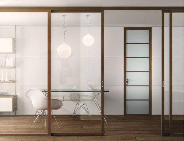 Porte Scorrevoli Alix in vetro con telaio in legno   DIVISORI ...