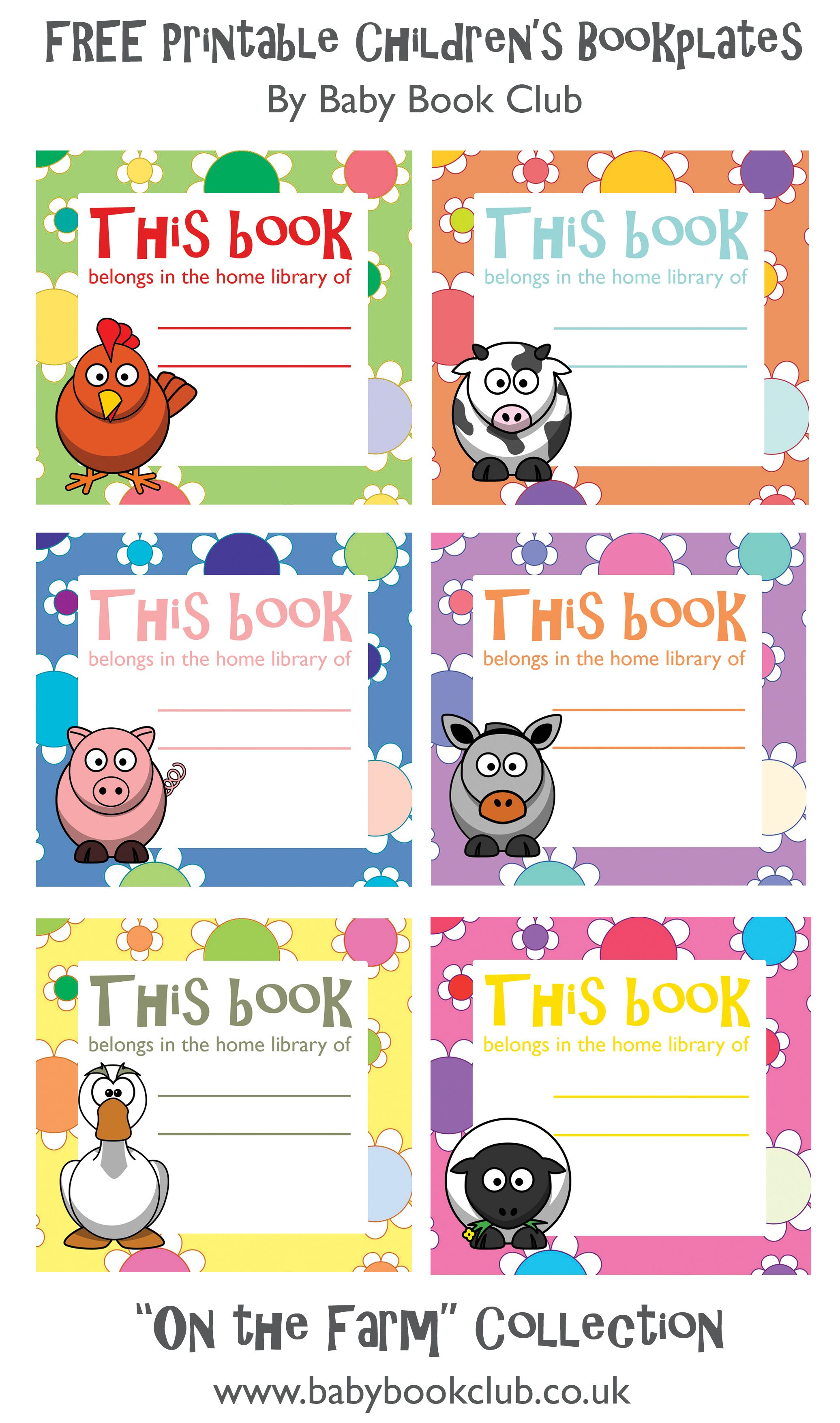 free printable childrens book plates | baby book club | free