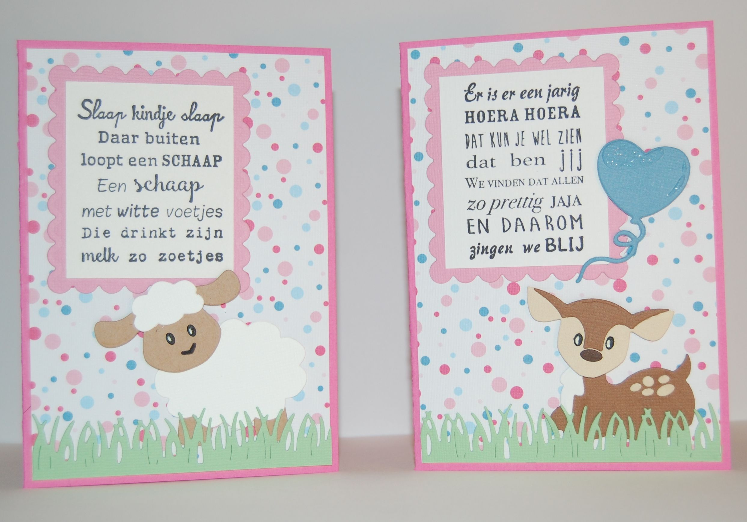 Baby-/Verjaardagskaarten Gebruikte materialen: Marianne Design Craftables CR1355…