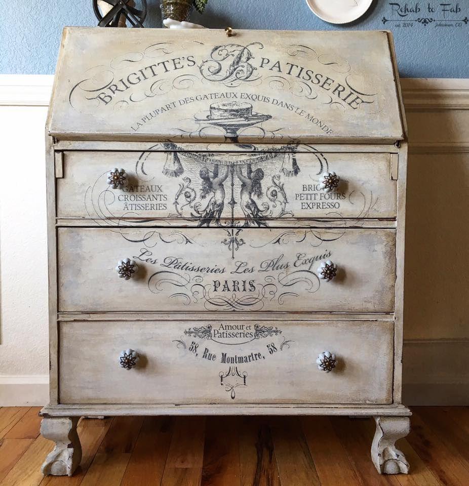 Furniture rub on transfers reciclado de muebles - Decoracion vintage reciclado ...
