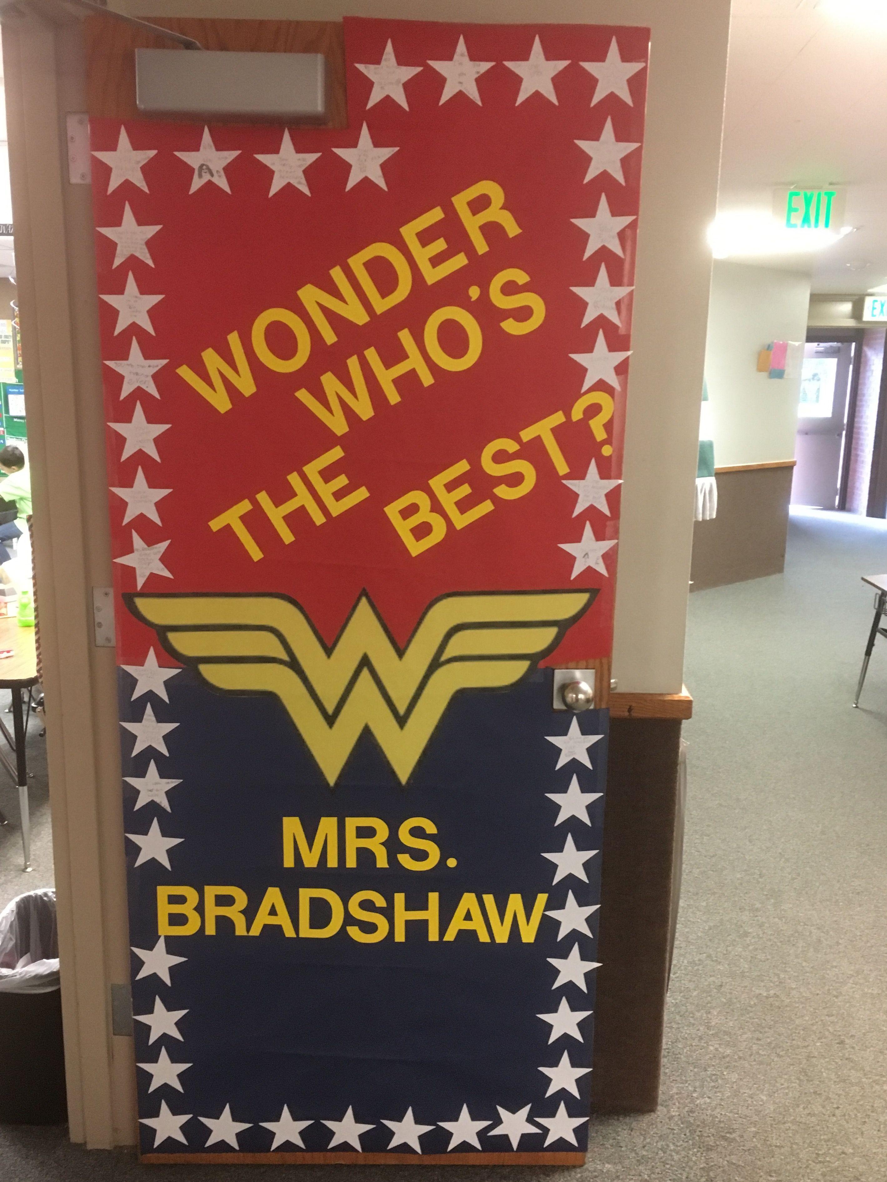 Superhero Teacher Appreciation Door Roommom